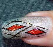 """Рисунок на ногтях """"Арлекин"""""""