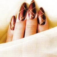 """Рисунок на ногтях """"Геометрик"""""""