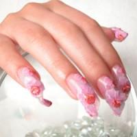 «Водопадный» дизайн ногтей.