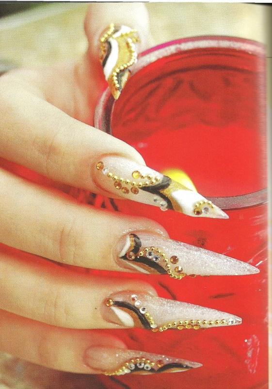 "Рисунок на ногтях ""Крем-брюле"""