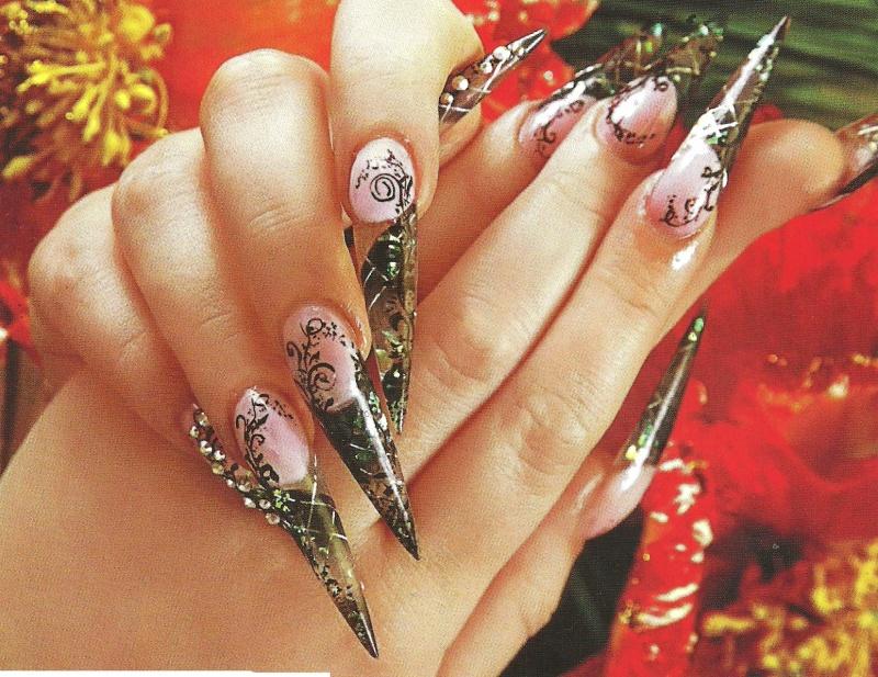 """Рисунок на ногтях """"Блистательный и утонченный"""""""