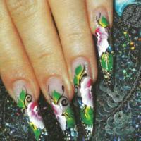 Рисунок на ногтях - Три в одном