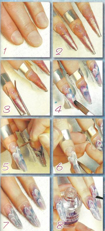 Нарощенные ногти пошагово 36