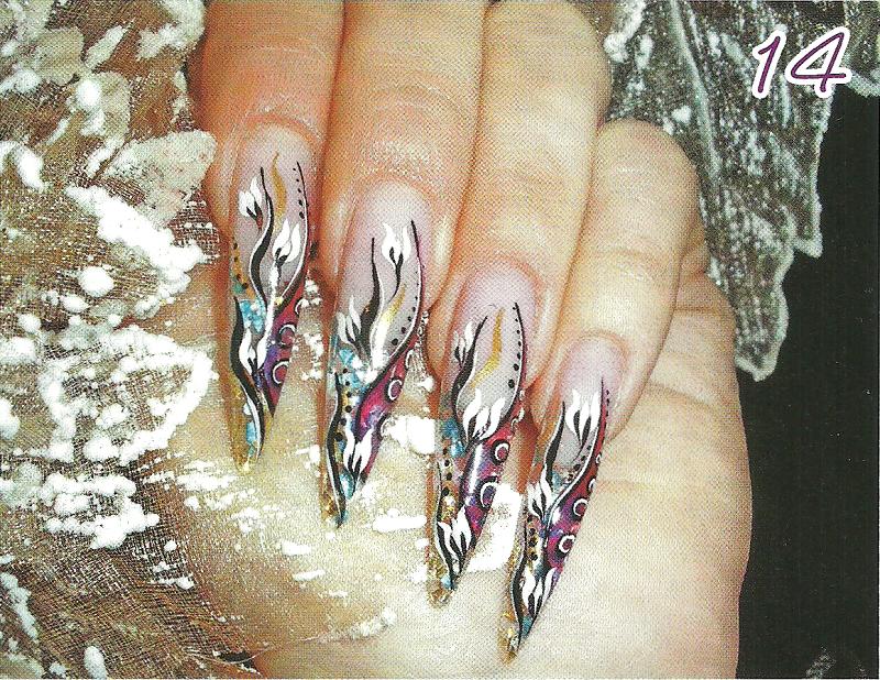 Рисунок на ногтях — три в одном