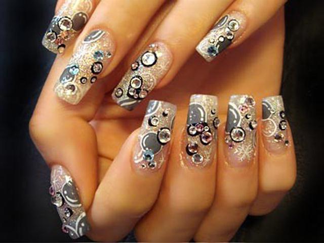 фото ногтей новогодний дизайн