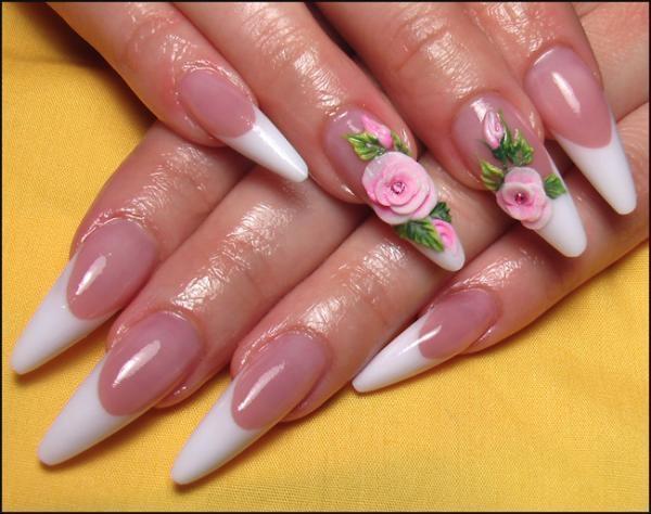 Жидкий дизайн ногтей