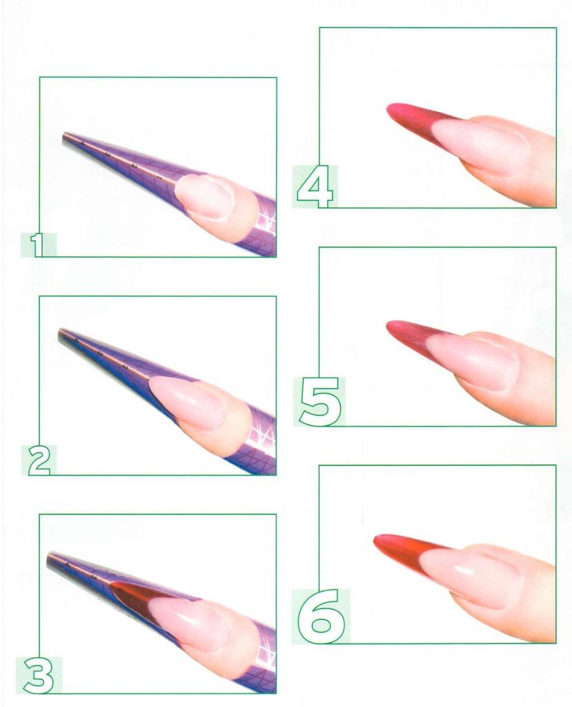 Как сделать миндаль форму на ногтях