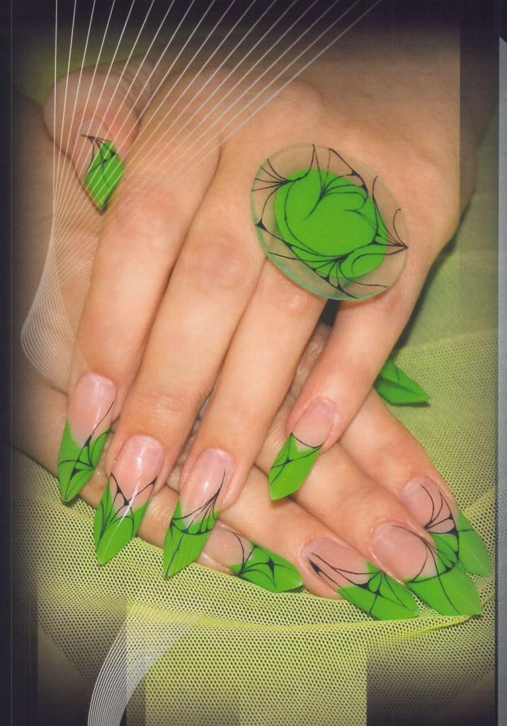 Карта на ногтях дизайн