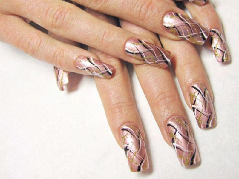Как сделать ракушек на ногтях