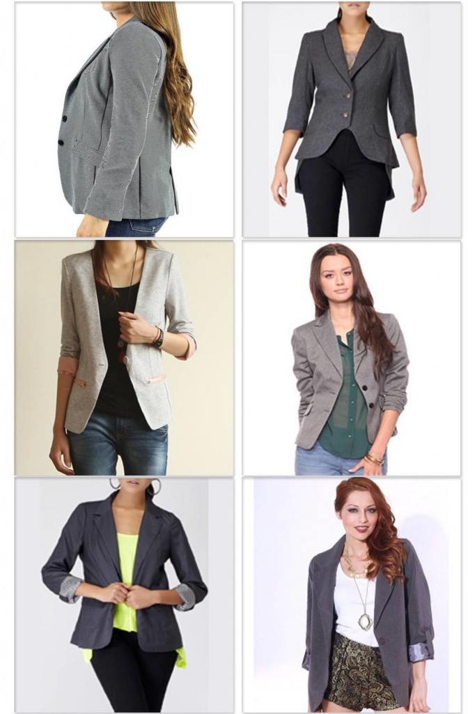 Серый пиджак с платьем