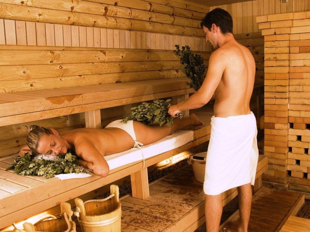 фото девушки на баня с мужм