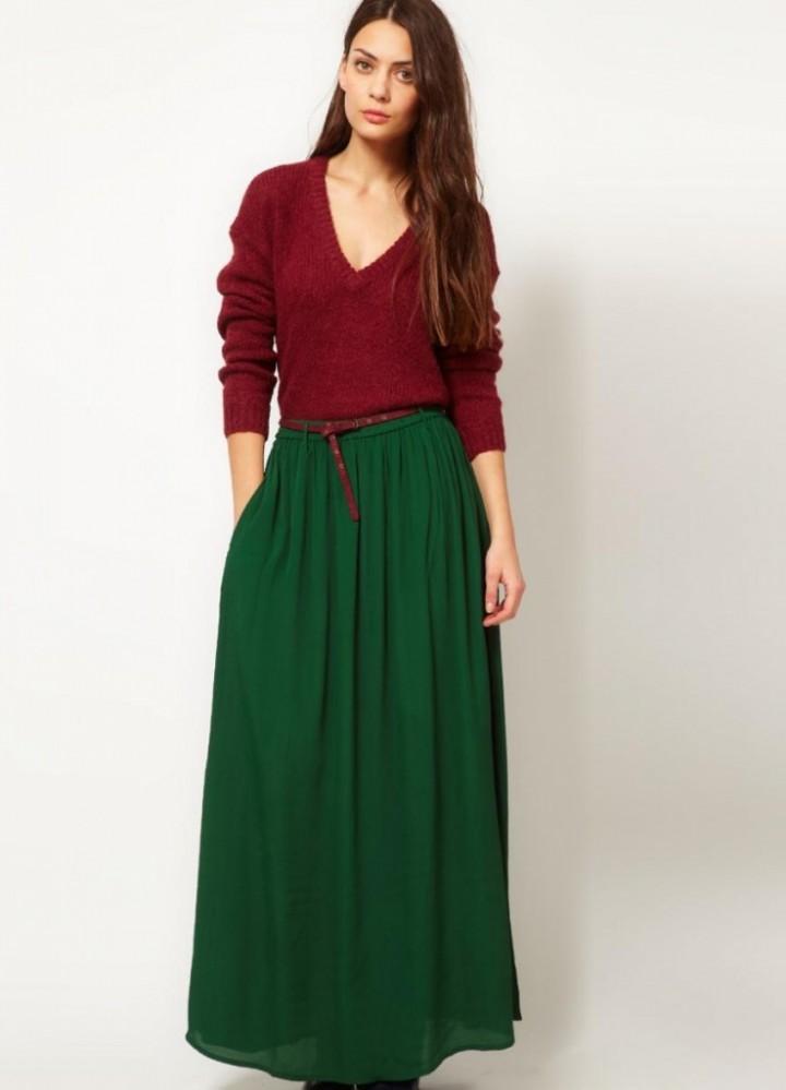 С чем носить длинную юбку3