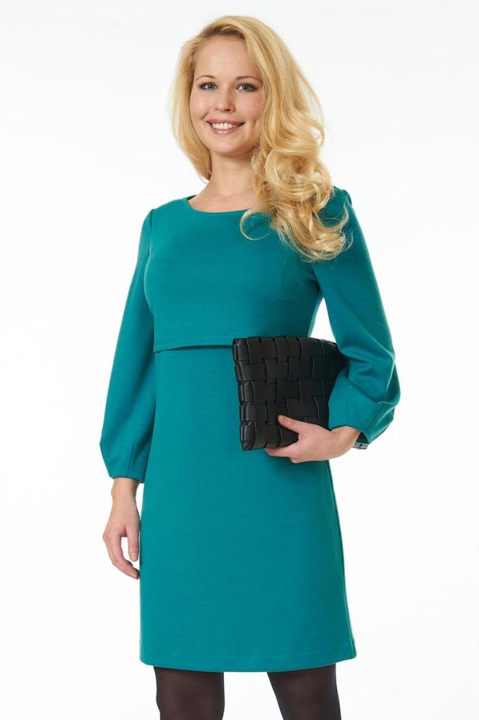 Трикотажное платье для крупных модниц2