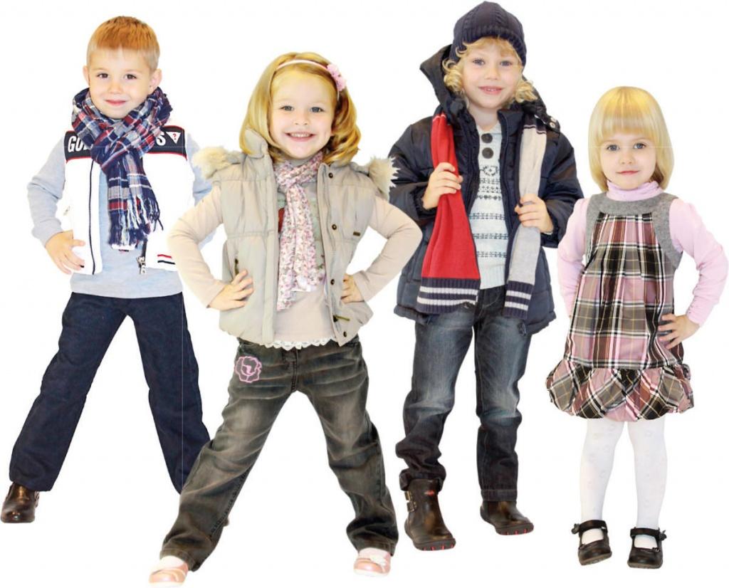 верхней одежды для детей