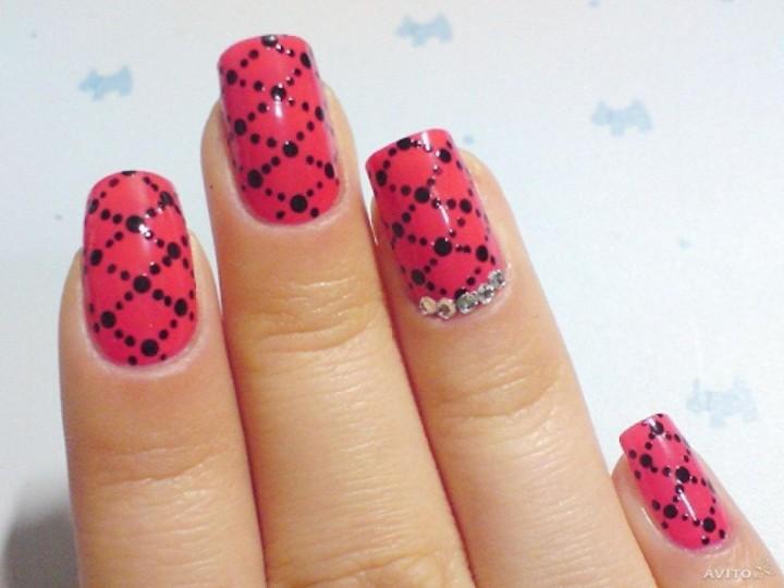Как сделать сеточку на ногтях