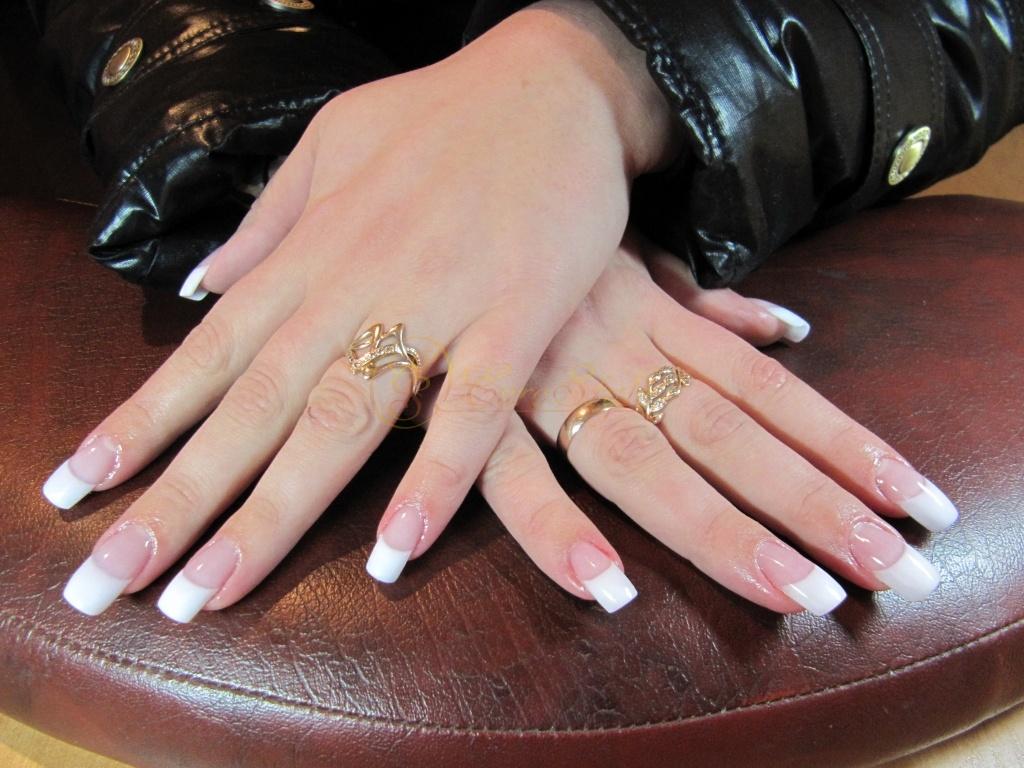 Фото французский маникюр нарощенных ногтей фото
