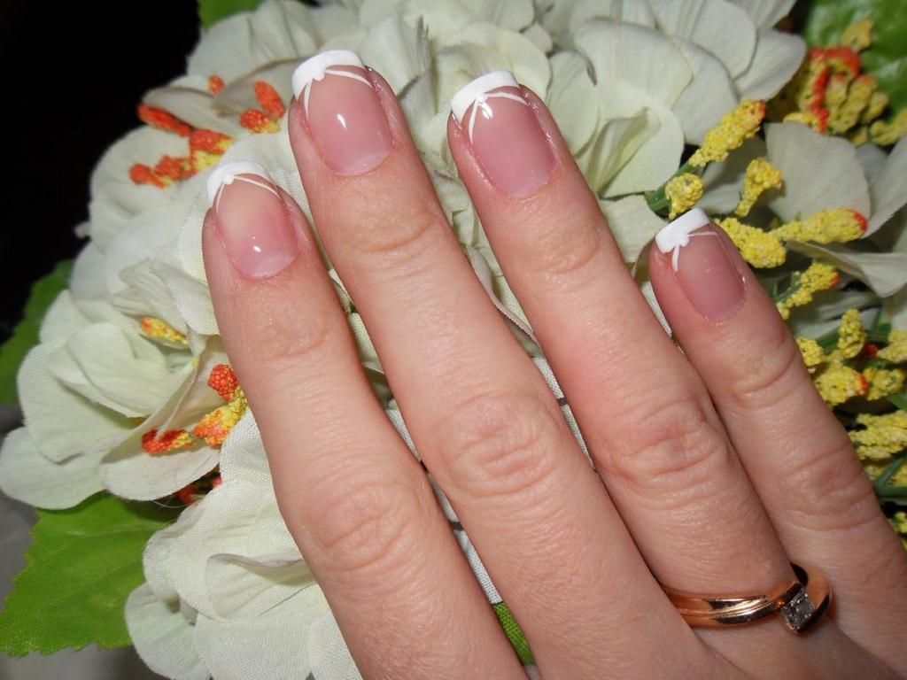 Свадебный маникюр на короткие ногти для невесты 2017-2018