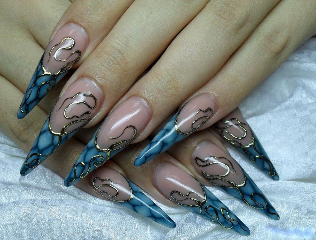 Новый дизайн гелевых ногтей фото
